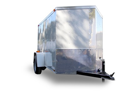 Diamond Cargo 5x8 Single Axle - Barn Doors