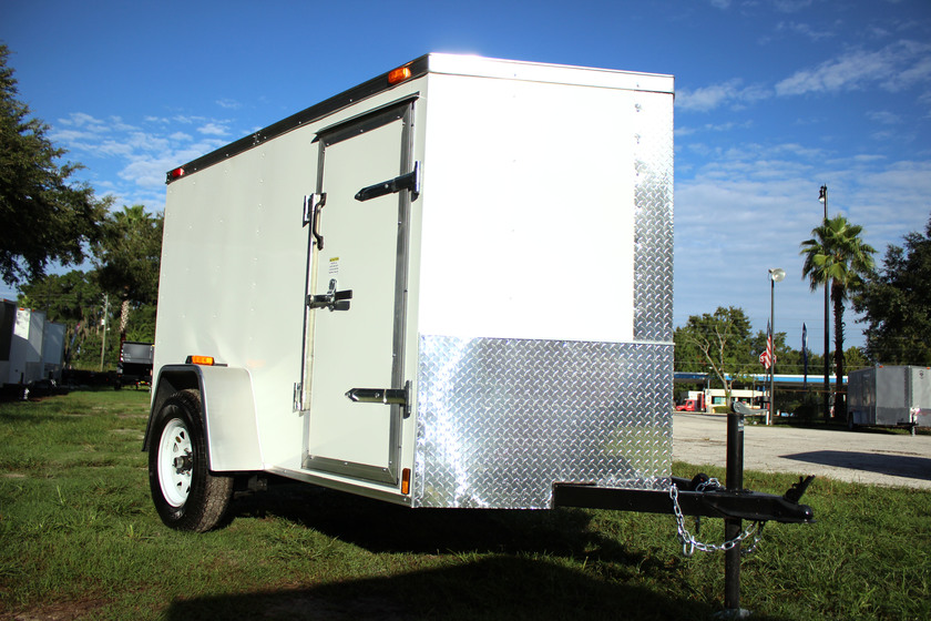 Diamond Cargo 5x8 Single Axle - Ramp Door & Side Door