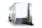 Diamond Cargo 7x14 Tandem Axle - Ramp Door