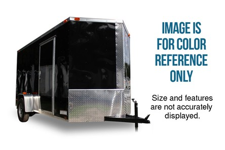 Diamond Cargo 7x12 Tandem Axle - LED Lights & Black ATP