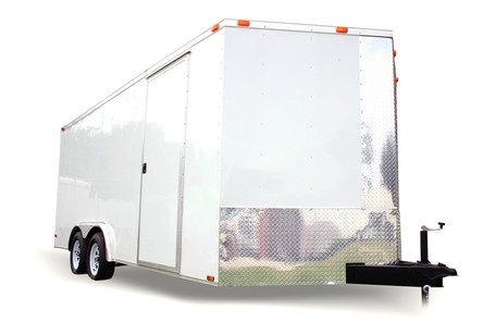 Diamond Cargo 8x18 Tandem Axle - Barn Doors