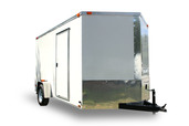 Diamond Cargo 7x12 Single Axle - Ramp Door