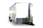 Diamond Cargo 7x14 Tandem Axle - Barn Doors