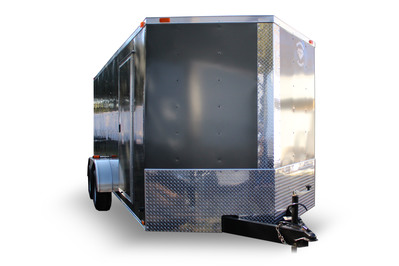 Diamond Cargo 7x16 Tandem Axle - Barn Doors