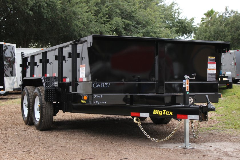 Big Tex 7' x 14' Dump Trailer