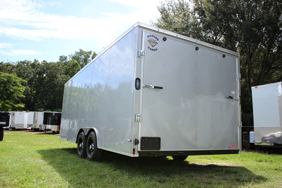 Diamond Cargo 8.5x20 Tandem Axle - Heavy Duty, LED Lights & Bullnose Front End