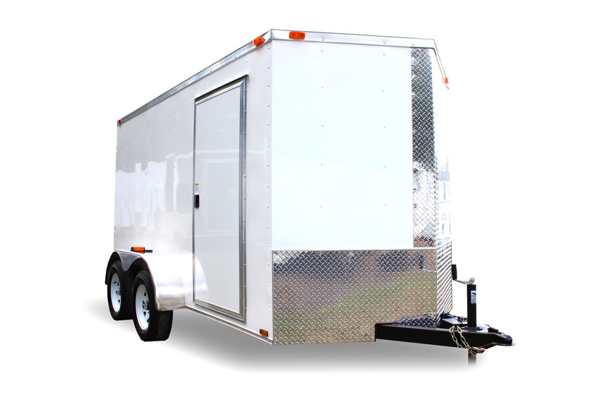 Diamond Cargo 6x12 Tandem Axle - Barn Doors