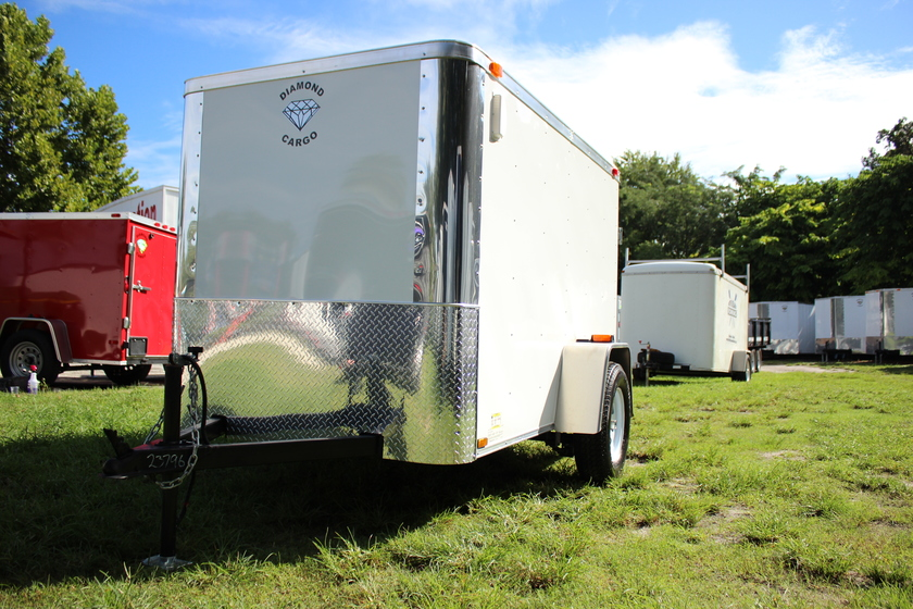 Diamond Cargo 5x8 Single Axle - Ramp Door & Flat Front