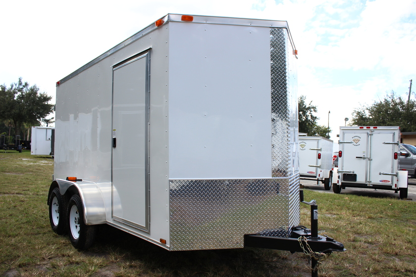 Diamond Cargo 6x12 Tandem Axle - Ramp Door