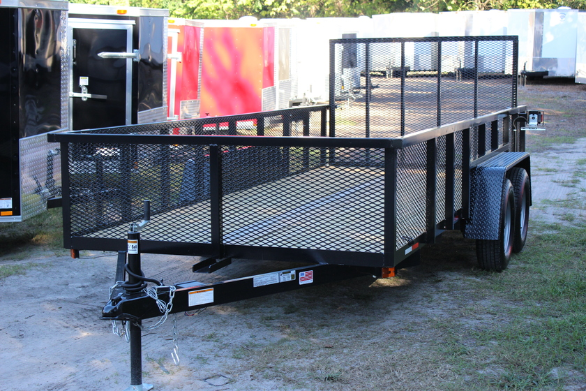 "AMP 76""x16' Tandem Axle Utility - Expanded Metal"