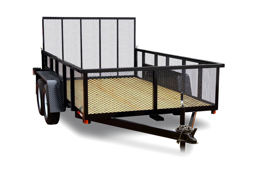 "AMP 76""x12' Tandem Axle Utility - Expanded Metal"