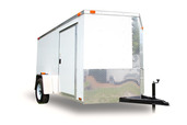 "Diamond Cargo 6x10 Single Axle - Ramp Door & 80"" Overall Height"