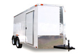 Diamond Cargo 7x12 Tandem Axle - Ramp Door