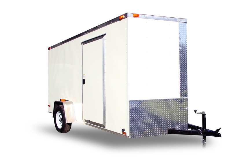 Diamond Cargo 6x12 Single Axle - Barn Doors
