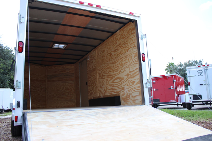Diamond Cargo 8x16 Tandem Axle - Ramp Door