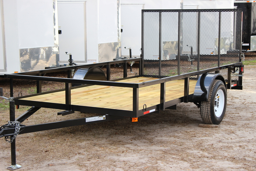 "AMP 76""x12' Single Axle Utility"